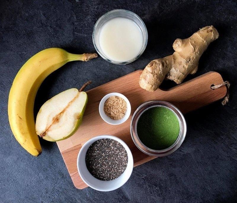 hruškovo-zázvorová smoothie