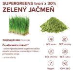 Zelený jačmeň infografika