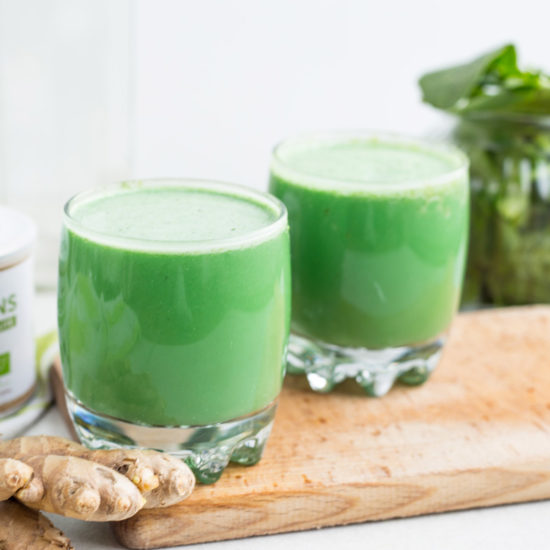 Zelené smoothie so zázvorom a zelenými superpotravinami Blendea Supergreens